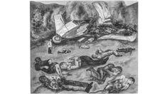 The Plane Crash, c 1936-38, is another lost artwork (Credit: Lola Alvarez Bravo/ Centre for Creative Photography, University of Arizona, Tucson/ Lola Alvarez Bravo Archive) Frida Kahlo Exhibit, Diego Rivera Frida Kahlo, Kahlo Paintings, Mexican Artists, University Of Arizona, Fine Art Prints, Canvas Prints, Female Portrait, Colour Schemes