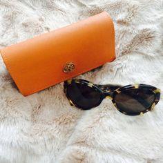 HP NWOT tory burch sunglasses Spotty tortois/brown solid colored Tory Burch sunglasses 57 mmbridge size 19 Tory Burch Accessories Sunglasses