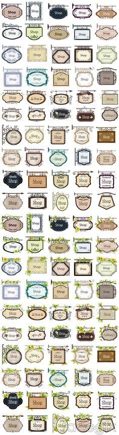 Shop decorative tone label tag vector