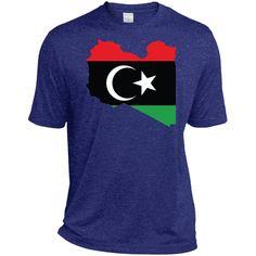 Libya flag-01 TST360 Sport-Tek Tall Heather Dri-Fit Moisture-Wicking T-Shirt