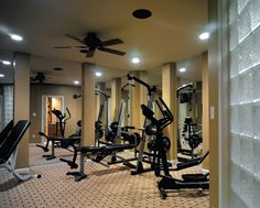 minimal equipment  home gym ideas  at home gym basement