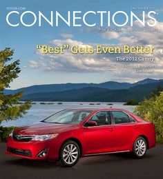 Toyota's Connections magazine cover art featuring the Camry from fall/winter 2011    #Toyota #magazine #Camry
