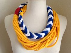 Donald Duck Inspired Jersey Infinity Scarf Necklace