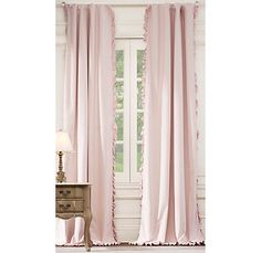 In love with these washed velvet draperies from Restoration Hardware Baby!