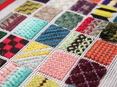 Needlepoint samplers by Nuria Picos our teacher.