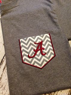 Alabama Pocket Tee in Long Sleeve by ANewCreationbySara on Etsy, $25.00
