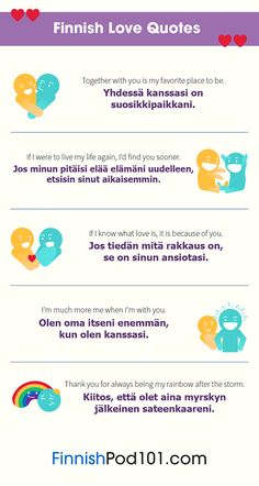 """finnishpod101: """" Love! Love! Love! All About LOVE in Finnish!!! You'll also love to learn Finnish with us here: https://www.finnishpod101.com/?src=tumblr_love_album_020818 """""""