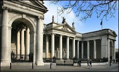 The Irish Houses of Parliament also known as the Irish Parliament House, today called the Bank of Ireland Dublin Street, Dublin City, Greek Architectural Style, Ireland Pictures, Neoclassical Architecture, House Of Commons, Kingdom Of Great Britain, Houses Of Parliament, Europe