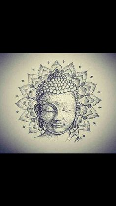 "Képtalálat a következőre: ""buddha tattoo dot work"" Buddha Tattoos, Buddha Tattoo Design, Buddha Drawing, Buddha Art, Yoga Tattoos, Arm Tattoos, Widder Tattoo, Mandala Tattoo, Tattoo Ideas"