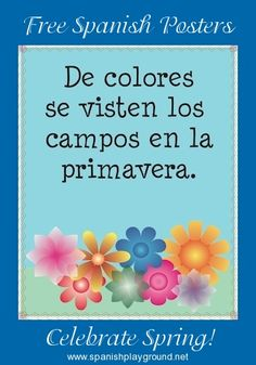 Printable Spanish Posters and Coloring Pages for Spring - Spanish Playground