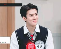 exo — [travel the world on exo's ladder season two] suho. Cute Baby Smile, Cute Babies, Kpop Exo, Suho Exo, Assassian Creed, Sehun Cute, Baby Smiles, Anime Girl Cute, Cute Gif