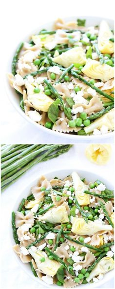 Spring Pasta Salad Recipe on twopeasandtheirpod.com This simple and healthy pasta salad recipe is great as a main dish or side dish!