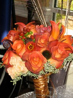 Fall bouquet. Love the colors