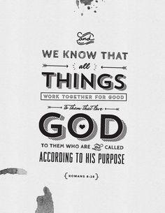 Romans 8:28 Faith Scripture, Encouraging Bible Verses, Biblical Quotes, Favorite Bible Verses, Scripture Quotes, Meaningful Quotes, Faith Quotes, Inspirational Quotes, Scriptures