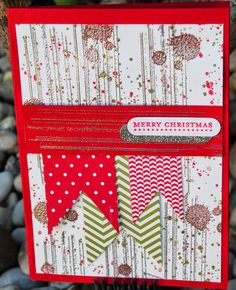 A Christmas Card made using non-Christmas Stampin'Up! (r) stamps - Gorgeous Grunge and Teeny Tiny Sentiments