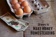 39 Ways to Make Money Homesteading on The Prairie Homestead at http://www.theprairiehomestead.com/2015/01/make-money-homesteading.html