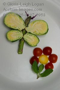 Brussel Sprout Butterfly and Cherry Tomato Flower