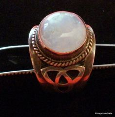 Sterling Silver Rainbow Moonstone Ring Size 12 by AeryckdeSade, $65.00
