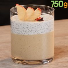 chia and flax seed pudding . chia pudding with flax seed