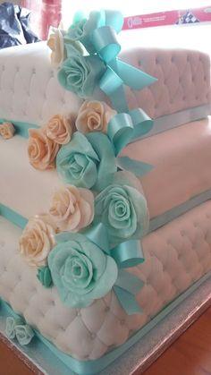 Fondant Roses Fondant Rose, Roses, Cake, Desserts, Pie Cake, Tailgate Desserts, Pastel, Pink, Rose