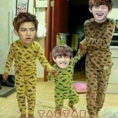 daehyun baekhyun taehyung v bts bangtan boys b.a.p exo eyeliner family derp
