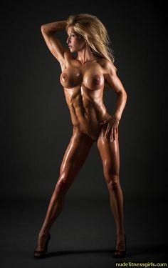 Not Bodybuilding women nude oiled