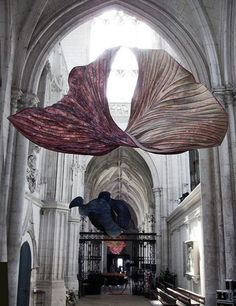 Fabric installations in stunning buildings