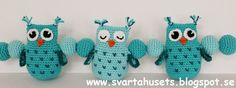 Create and Decoration: Pattern of mobile stroller with owls
