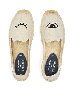 Soludos Jason Polan Wink Smoking Slipper Espadrille Flats | Bloomingdale's