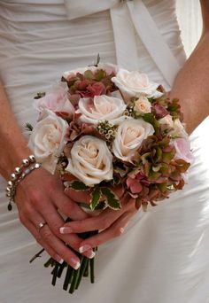 Gorgeous colour of rosesPink Wedding Bouquets Winter Wonderland Bouquet designed by The Fine Flower Company at My Wedding Flower Ideas Magazine