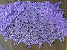 Crescent shaped shawl for the advanced or even adventurous intermediate knitter who can read charts.