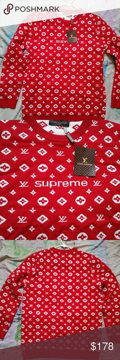 Limited Edition LV sweaters New with original box Louis Vuitton Sweaters Crew & Scoop Necks
