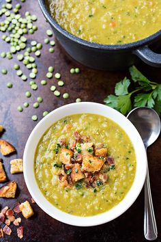 Hearty Split Pea Soup | thecozyapron.com