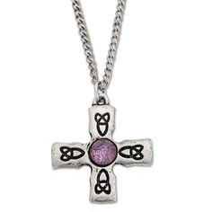 Celtic Cross with Amethyst