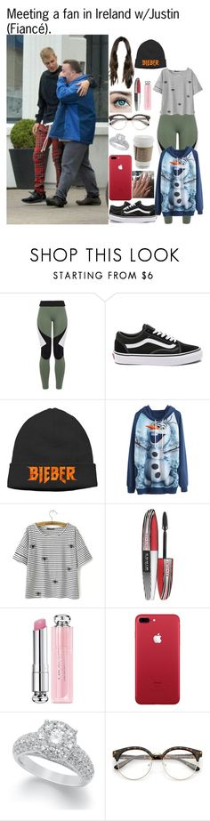 """Meeting a fan in Ireland w/Justin(Fiancé)."" by tatabranquinha ❤ liked on Polyvore featuring beauty, Charli Cohen, Vans, Justin Bieber, L'Oréal Paris, Christian Dior, Universal, JustinBieber and celebrity"