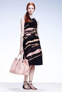 Love Bottega Veneta's textured take on the Resort 2015 a-line silhouette trend. More Resort 2015 trends here: http://balharbourshops.com/fashion/trend-report/resort-2015/always-a-line