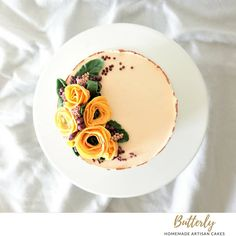 Buttercream Flowers, Floral Cake, Panna Cotta, To My Daughter, Cake Decorating, Ethnic Recipes, Instagram, Food, Dulce De Leche