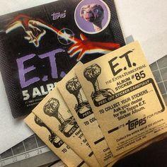 E.T. stickers #Topps #stickercollection #80s #retro