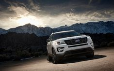 Download wallpapers Ford Explorer Sport, 4k, 2018 cars, SUVs, offroad, U502, american cars, Ford