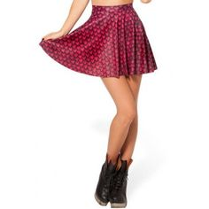 On Sale for $30.58 - Red Mermaid Scale Print Pleated Skirt