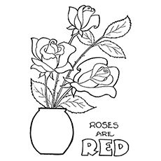 rose coloring pages and book   uniquecoloringpages   happy rose ... - Printable Coloring Pages Roses