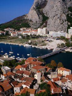 Old Town on Cetina River, Omis, Croatia