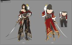 Pirate character designs for concept art & vis dev art ideas Anime Pirate, Pirate Art, Pirate Woman, Lady Pirate, Character Design Sketches, Character Design References, Character Illustration, Female Character Concept, Game Character