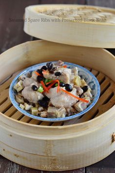 Violet's Kitchen ~♥紫羅蘭的爱心厨房♥~ : 豆豉蒸排骨 Steamed Spare Ribs with Preserved Black Bean