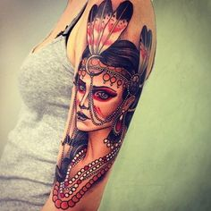 Imgs For > Neo Traditional Tattoos For Women