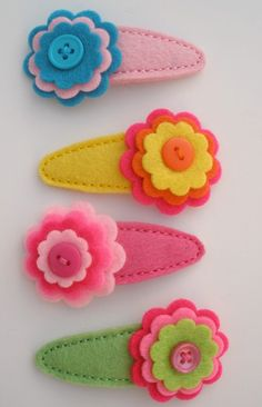 Lillianne- Stacked Flower Hair Clip-felt flower hair clip, hair clippies