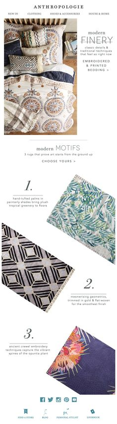 Anthropology email newsletter - could do with scarves?