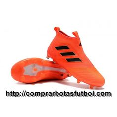 the latest b9d0b 22fed Madrid Botas De Futbol Adidas ACE 17+ Purecontrol FG Naranja Solar Rojo  Solar Negro Core