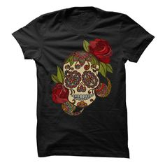 I LOVE SUGAR SKULLS T-Shirts, Hoodies. SHOPPING NOW ==► Funny Tee Shirts