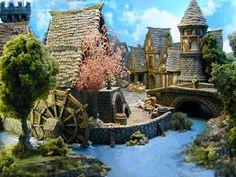 Miniature Village Buildings | Kobblestone Miniatures wargame buildings, wminiature buildings ...